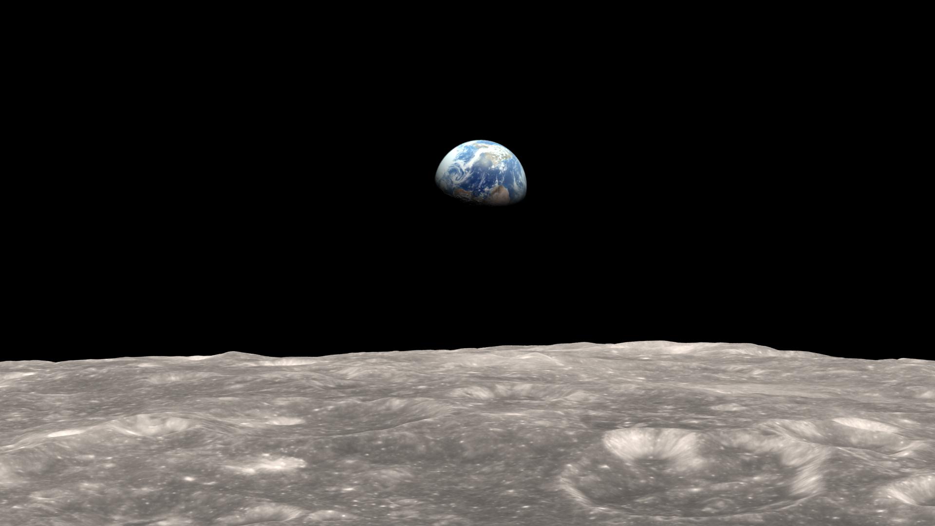 La Terre vue de la Lune. ©NASA